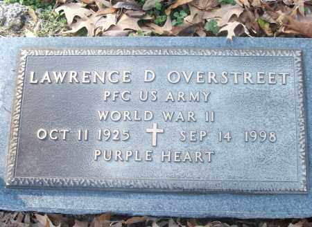 OVERSTREET (VETERAN WWII), LAWRENCE D - White County, Arkansas | LAWRENCE D OVERSTREET (VETERAN WWII) - Arkansas Gravestone Photos