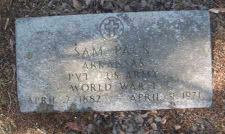 PACK (VETERAN WWI), SAM - White County, Arkansas | SAM PACK (VETERAN WWI) - Arkansas Gravestone Photos