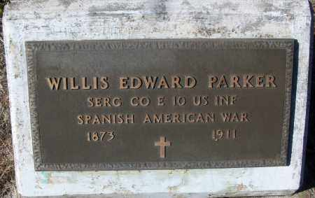 PARKER (VETERAN SAW), WILLIS EDWARD - White County, Arkansas | WILLIS EDWARD PARKER (VETERAN SAW) - Arkansas Gravestone Photos