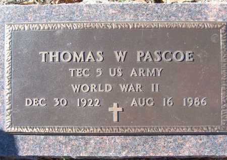 PASCOE (VETERAN WWII), THOMAS W - White County, Arkansas | THOMAS W PASCOE (VETERAN WWII) - Arkansas Gravestone Photos