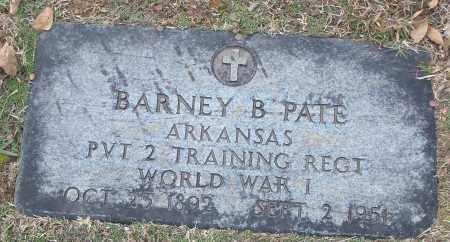 PATE (VETERAN WWI), BARNEY - White County, Arkansas | BARNEY PATE (VETERAN WWI) - Arkansas Gravestone Photos