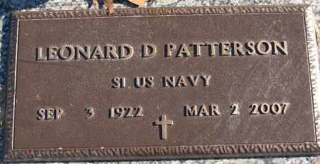 PATTERSON (VETERAN), LEONARD D - White County, Arkansas | LEONARD D PATTERSON (VETERAN) - Arkansas Gravestone Photos