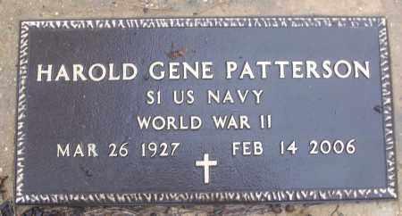 PATTERSON (VETERAN WWII), HAROLD GENE - White County, Arkansas | HAROLD GENE PATTERSON (VETERAN WWII) - Arkansas Gravestone Photos