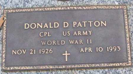 PATTON (VETERAN WWII), DONALD D - White County, Arkansas | DONALD D PATTON (VETERAN WWII) - Arkansas Gravestone Photos