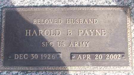 PAYNE (VETERAN), HAROLD B - White County, Arkansas | HAROLD B PAYNE (VETERAN) - Arkansas Gravestone Photos