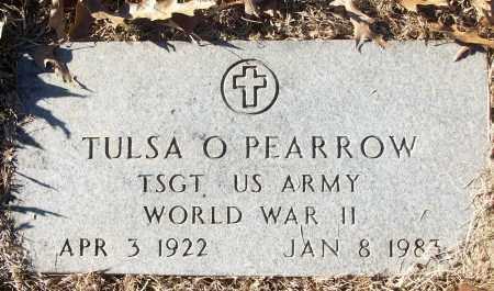 PEARROW (VETERAN WWII), TULSA O - White County, Arkansas | TULSA O PEARROW (VETERAN WWII) - Arkansas Gravestone Photos