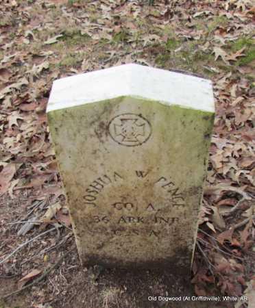 PENCE (VETERAN CSA), JOSHUA W - White County, Arkansas | JOSHUA W PENCE (VETERAN CSA) - Arkansas Gravestone Photos
