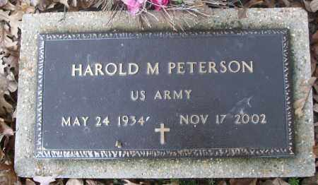 PETERSON  (VETERAN), HAROLD M - White County, Arkansas | HAROLD M PETERSON  (VETERAN) - Arkansas Gravestone Photos