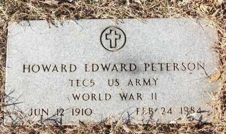 PETERSON (VETERAN WWII), HOWARD EDWARD - White County, Arkansas | HOWARD EDWARD PETERSON (VETERAN WWII) - Arkansas Gravestone Photos