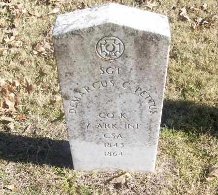 PETTUS  (VETERAN CSA), DEMARCUS - White County, Arkansas | DEMARCUS PETTUS  (VETERAN CSA) - Arkansas Gravestone Photos