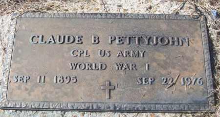 PETTYJOHN (VETERAN WWI), CLAUDE B - White County, Arkansas | CLAUDE B PETTYJOHN (VETERAN WWI) - Arkansas Gravestone Photos