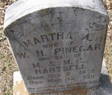 PINEGAR, MARTHA A. - White County, Arkansas | MARTHA A. PINEGAR - Arkansas Gravestone Photos