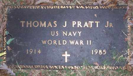 PRATT, JR (VETERAN WWII), THOMAS J - White County, Arkansas | THOMAS J PRATT, JR (VETERAN WWII) - Arkansas Gravestone Photos
