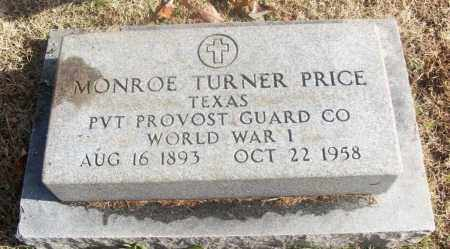 PRICE  (VETERAN WWI), MONROE TURNER - White County, Arkansas | MONROE TURNER PRICE  (VETERAN WWI) - Arkansas Gravestone Photos
