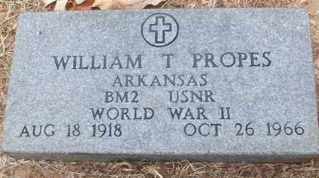 PROPES (VETERAN WWII), WILLIAM T - White County, Arkansas | WILLIAM T PROPES (VETERAN WWII) - Arkansas Gravestone Photos