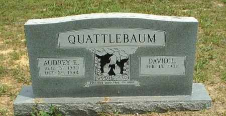 MANOR QUATTLEBAUM, AUDREY ELAINE - White County, Arkansas | AUDREY ELAINE MANOR QUATTLEBAUM - Arkansas Gravestone Photos