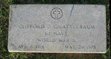 QUATTLEBAUM  (VETERAN WWII), CLIFFORD D. - White County, Arkansas | CLIFFORD D. QUATTLEBAUM  (VETERAN WWII) - Arkansas Gravestone Photos