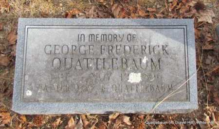QUATTLEBAUM, GEORGE FREDERICK - White County, Arkansas | GEORGE FREDERICK QUATTLEBAUM - Arkansas Gravestone Photos