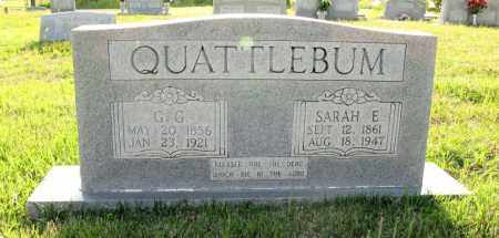 QUATTLEBAUM, SARAH E - White County, Arkansas | SARAH E QUATTLEBAUM - Arkansas Gravestone Photos