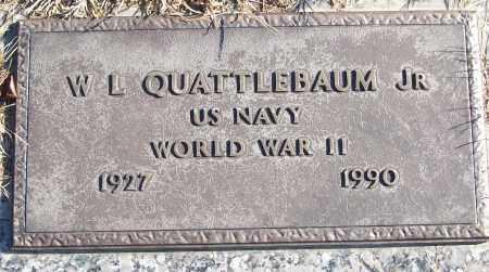 QUATTLEBAUM, JR (VETERAN WWII), W L - White County, Arkansas | W L QUATTLEBAUM, JR (VETERAN WWII) - Arkansas Gravestone Photos