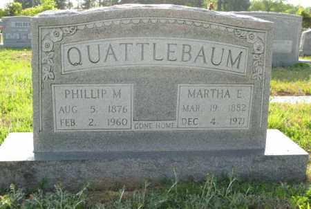 QUATTLEBAUM, PHILLIP M. - White County, Arkansas | PHILLIP M. QUATTLEBAUM - Arkansas Gravestone Photos