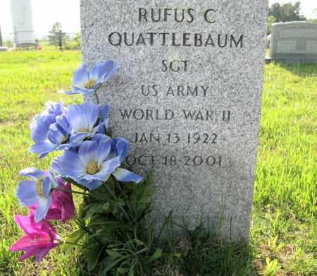 QUATTLEBAUM (VETERAN WWII), RUFUS C. - White County, Arkansas | RUFUS C. QUATTLEBAUM (VETERAN WWII) - Arkansas Gravestone Photos