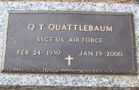 QUATTLEBAUM (VETERAN), Q T - White County, Arkansas | Q T QUATTLEBAUM (VETERAN) - Arkansas Gravestone Photos