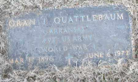 QUATTLEBAUM (VETERAN WWI), ORAN J - White County, Arkansas | ORAN J QUATTLEBAUM (VETERAN WWI) - Arkansas Gravestone Photos