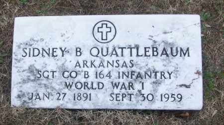 QUATTLEBAUM (VETERAN WWI), SIDNEY B - White County, Arkansas | SIDNEY B QUATTLEBAUM (VETERAN WWI) - Arkansas Gravestone Photos