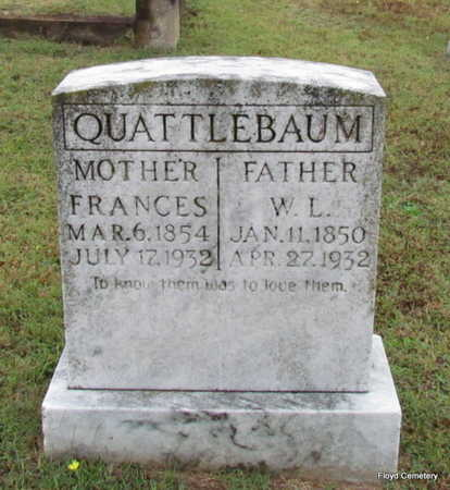 QUATTLEBAUM, FRANCES - White County, Arkansas | FRANCES QUATTLEBAUM - Arkansas Gravestone Photos