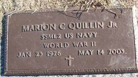 QUILLIN, JR (VETERAN WWII), MARION C - White County, Arkansas | MARION C QUILLIN, JR (VETERAN WWII) - Arkansas Gravestone Photos