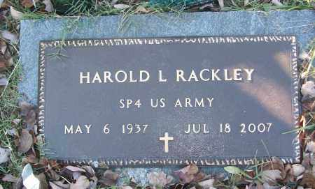 RACKLEY (VETERAN), HAROLD L - White County, Arkansas | HAROLD L RACKLEY (VETERAN) - Arkansas Gravestone Photos
