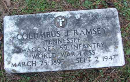 RAMSEY (VETERAN WWI), COLUMBUS J - White County, Arkansas | COLUMBUS J RAMSEY (VETERAN WWI) - Arkansas Gravestone Photos