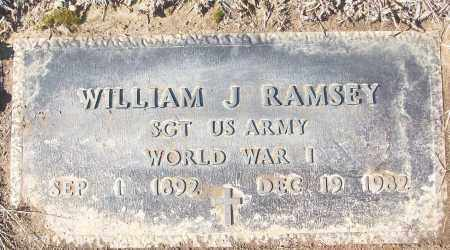 RAMSEY (VETERAN WWI), WILLIAM J - White County, Arkansas | WILLIAM J RAMSEY (VETERAN WWI) - Arkansas Gravestone Photos