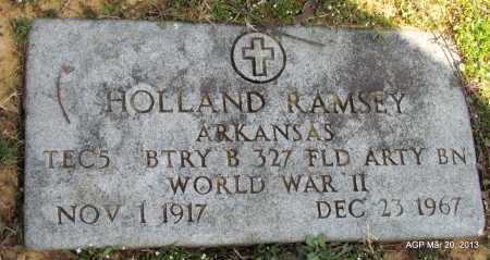 RAMSEY (VETERAN WWII), HOLLAND - White County, Arkansas | HOLLAND RAMSEY (VETERAN WWII) - Arkansas Gravestone Photos