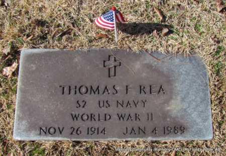 REA (VETERAN WWII), THOMAS F - White County, Arkansas | THOMAS F REA (VETERAN WWII) - Arkansas Gravestone Photos