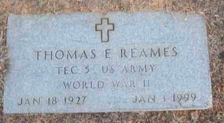REAMES (VETERAN WWII), THOMAS E - White County, Arkansas | THOMAS E REAMES (VETERAN WWII) - Arkansas Gravestone Photos