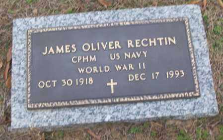 RECHTIN (VETERAN WWII), JAMES OLIVER - White County, Arkansas | JAMES OLIVER RECHTIN (VETERAN WWII) - Arkansas Gravestone Photos
