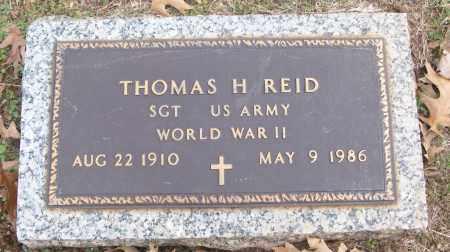 REID (VETERAN WWII), THOMAS H - White County, Arkansas | THOMAS H REID (VETERAN WWII) - Arkansas Gravestone Photos