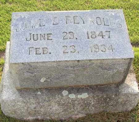 REYNOLDS, JANE E. - White County, Arkansas | JANE E. REYNOLDS - Arkansas Gravestone Photos