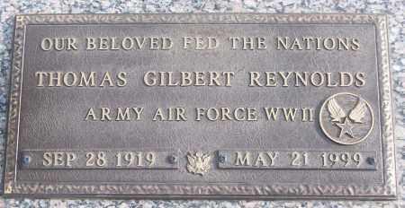 REYNOLDS (VETERAN WWII), THOMAS GILBERT - White County, Arkansas | THOMAS GILBERT REYNOLDS (VETERAN WWII) - Arkansas Gravestone Photos