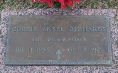 RICHARDS (VETERAN), CURTIS ANSEL - White County, Arkansas | CURTIS ANSEL RICHARDS (VETERAN) - Arkansas Gravestone Photos