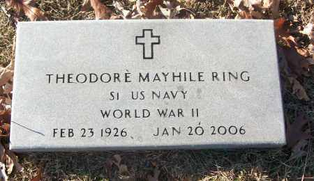 RING (VETERAN WWII), THEODORE MAYHILE - White County, Arkansas | THEODORE MAYHILE RING (VETERAN WWII) - Arkansas Gravestone Photos