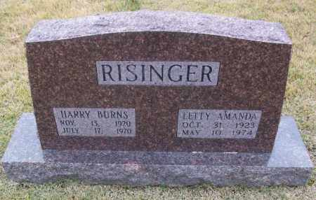 RISINGER, LETTY AMANDA - White County, Arkansas | LETTY AMANDA RISINGER - Arkansas Gravestone Photos