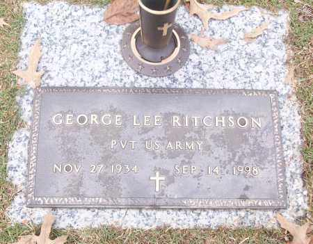 RITCHSON  (VETERAN), GEORGE LEE - White County, Arkansas | GEORGE LEE RITCHSON  (VETERAN) - Arkansas Gravestone Photos