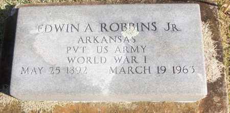 ROBBINS, JR  (VETERAN WWI), EDWIN A - White County, Arkansas | EDWIN A ROBBINS, JR  (VETERAN WWI) - Arkansas Gravestone Photos