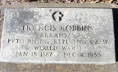 ROBBINS (VETERAN WWI), FRANCIS - White County, Arkansas | FRANCIS ROBBINS (VETERAN WWI) - Arkansas Gravestone Photos