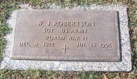 ROBERTSON  (VETERAN WWII), W. J. - White County, Arkansas | W. J. ROBERTSON  (VETERAN WWII) - Arkansas Gravestone Photos