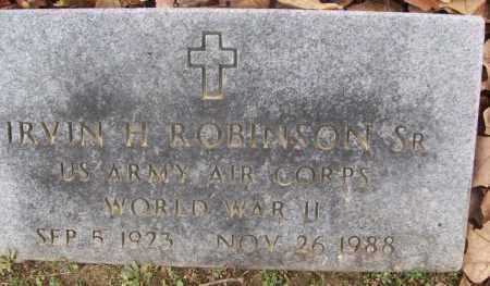ROBINSON, SR (VETERAN WWII), IRVIN H. - White County, Arkansas | IRVIN H. ROBINSON, SR (VETERAN WWII) - Arkansas Gravestone Photos