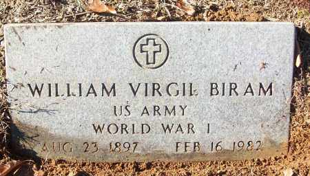 BIRAM (VETERAN WWI), WILLIAM VIRGIL - White County, Arkansas | WILLIAM VIRGIL BIRAM (VETERAN WWI) - Arkansas Gravestone Photos
